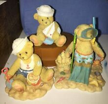 cherished teddies lot 3 beach water themed includes