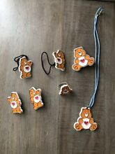 care bears jewelry hair ring barrettes