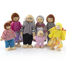 wooden puppet wooden furniture doll house family