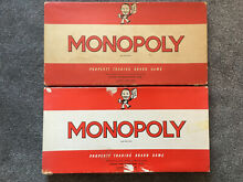monopoly waddingtons board game classic red