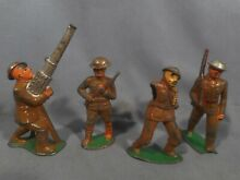 barclay 4 metal lead toy soldiers manoil