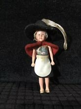 german doll national costume doll black hat red