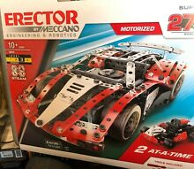 meccano steam engine erector by meccano supercar 27 in 1