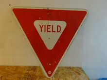 road sign yield retired street man cave
