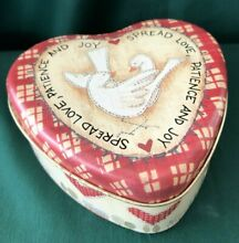 russ berrie heart shaped filled valentine tin