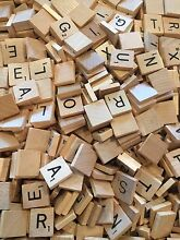 scrabble wood tiles letters 10 1 00 see