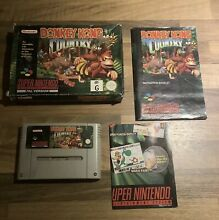 snes donkey kong country in box super
