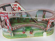 chein j tin roller coaster large toy wind