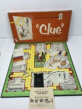 board game 1950 clue detective by parker