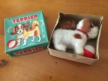 alps mechanical toy dog w ball wind up
