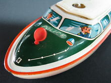 german tipp co tin toy police boat