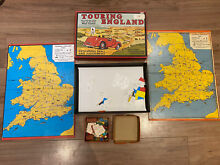 touring game retro touring england map board
