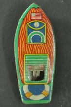 penny toy small penny unique litho boat tin