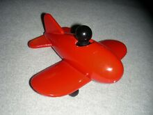 playsam ps play sam red wood wooden plane