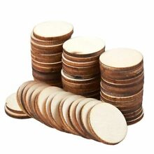 wooden 60 pcs unfinished wood slices round