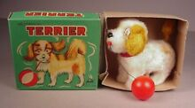 alps terrier dog wind up toy mib
