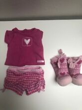 american girl doll clothes sweet heart pj s condition