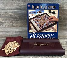 scrabble 1990 deluxe travel edition game