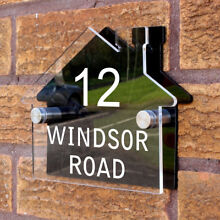 road sign personalised custom house shaped