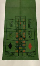 chad valley large rare roulette canvas mat toy