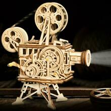 toy movie projector rokr 3d puzzle diy wooden vitascope