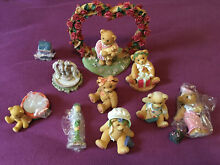 cherished teddies lot 11 members only accessories