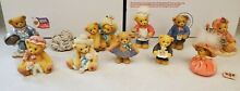 cherished teddies mixed 10 figurines read for