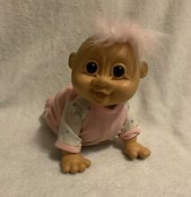 russ berrie troll doll crawling baby giggles