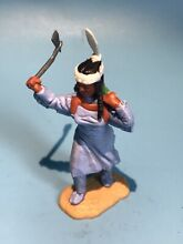 timpo toys viny plastic red indian squaw