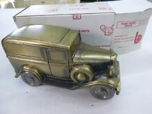 banthrico ford panel truck metal coin bank