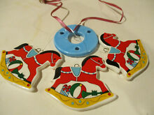 rocking horse russ berrie holiday windchimes