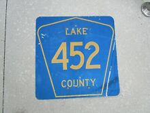 road sign florida lake county route 452