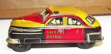 metal toy car safety patrol 1950