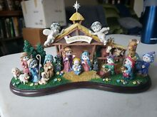 dreamsicles the lighted nativity danbury mint