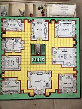 board game parker brothers 1950 clue game good