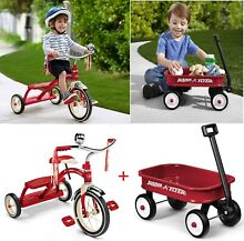 radio flyer wagon classic red dual deck tricycle 12