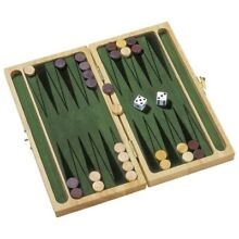 backgammon set traditional wooden board game