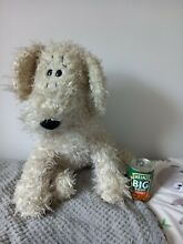 russ berrie 1990s large size curly dog soft toy