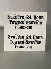 structo 1961 1962 24 hour towing service