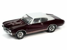 johnny lightning 1970 buick gs burgundy rr muscle