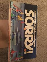 board game parker brothers sorry 1972 no 0390
