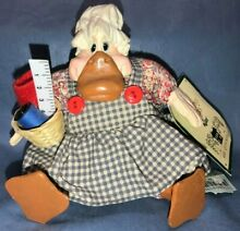 russ berrie country folks mrs quackerly duck