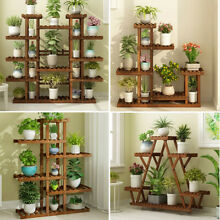 wooden multi tier plant stand flower rack