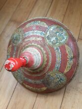 spin top tin top spinning top rare