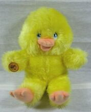 russ berrie yellow fluffy plush dilly duck toy