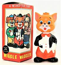 alps wiggle waggles wind up toy cat toys