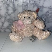russ berrie bubbles teddy bear sparkly pastel