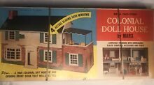 antique dollhouse 1950 s tin colonial dollhouse by