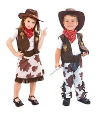 COW GIRL/COW BOY FANCY DRESS CHILD COSTUME ALL SIZES