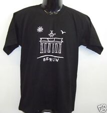 Fun T-Shirt * Brandenburger Tor Schwarz S - XXL
